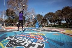 Mapei hiện diện trên sân bóng rổ của Red Bull ở Rome