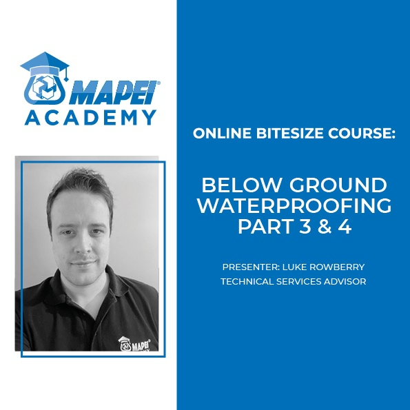 MAPEI BELOW GROUND 3&4 COURSES 2021