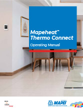 Mapeheat Thermo Connect Operating Manual