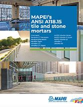 MAPEI's ANSI A118.15 tile and stone mortars