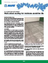Multi-sided sealing for moisture-sensitive tile