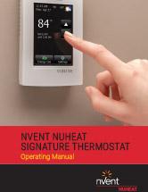 Nvent NUHEAT Signature Thermostat Operating Manual