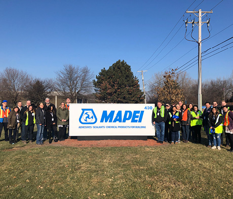 MAPEI West Chicago hosts visit with industry partners