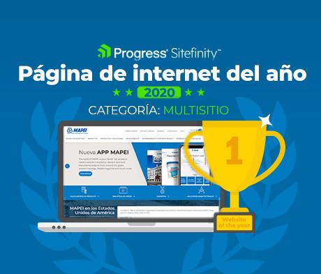El sitio de internet rediseñado de MAPEI gana en grande en ceremonia de premiación