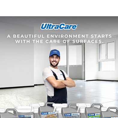 Ultracare : The New Mapei Line for Cleaning, maintaining and Protecting Surfaces.