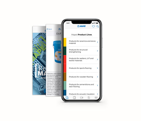 Personalise your space with the new Mapei app.