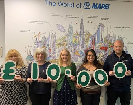 MAPEI HIT £10,000 FUNDRAISING TARGET FOR MACMILLAN