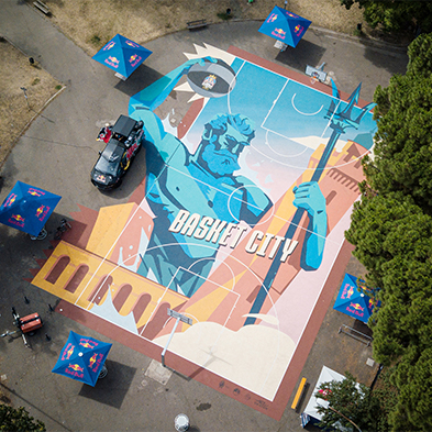 Mapei is a technical partner of Red Bull for the 2021 World Final Red Bull Half Court in Rome.