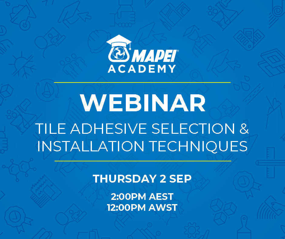 Webinar Facebook Post - Adhesive Selection & Installation Techniques 2.9.21