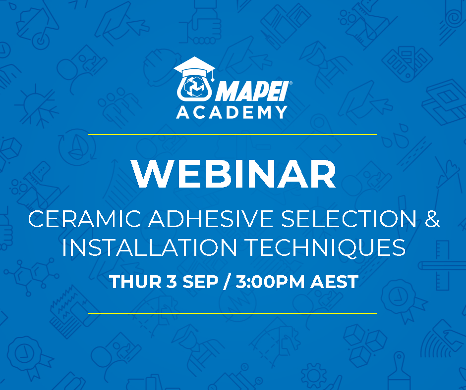 Webinar Facebook Post - Adhesive Selection & Installation Techniques SEPT