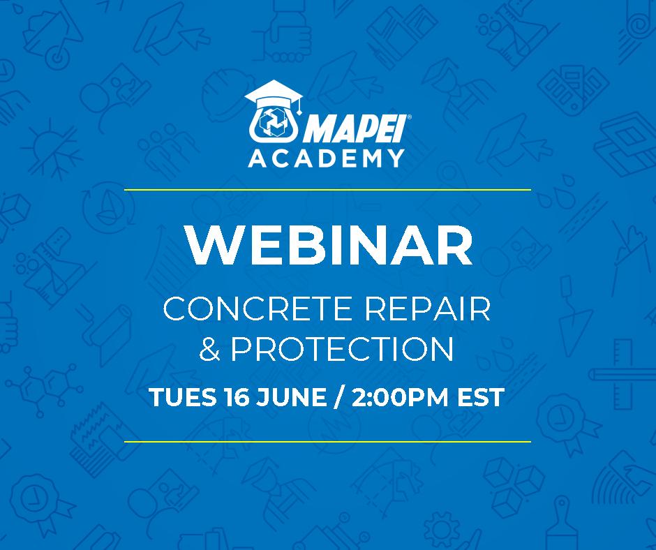 Webinar Facebook Post - Concrete Repair & Protection 16 June