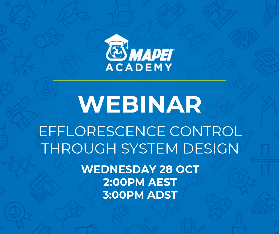 Webinar Facebook Post - Efflorescence Control Through System Design 28.10.20