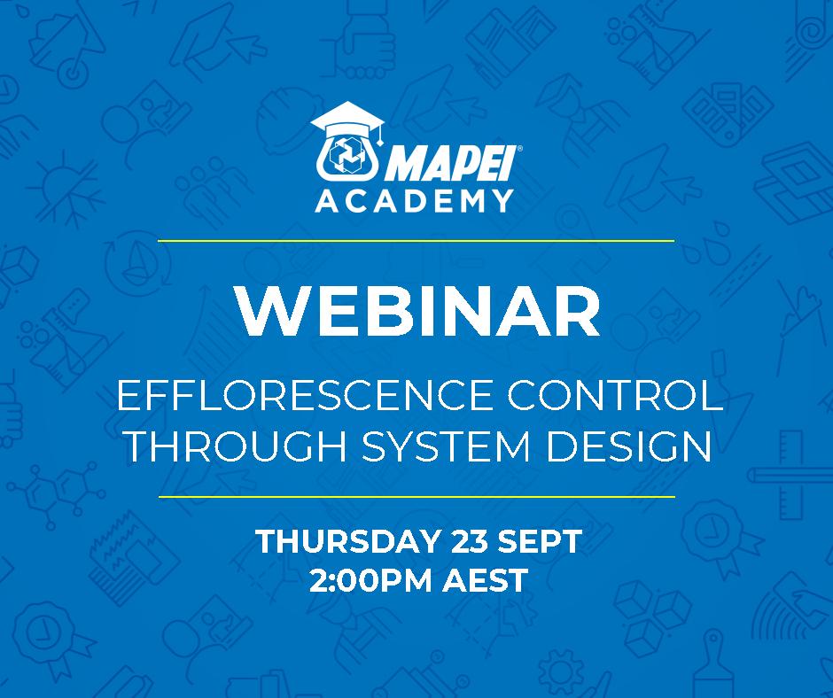 Webinar Facebook Post - Efflorescence Control Through System Design 23.9.20