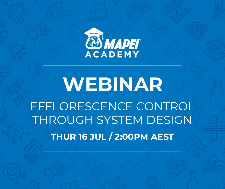 WEBINAR: Efflorescence Control Through System Design