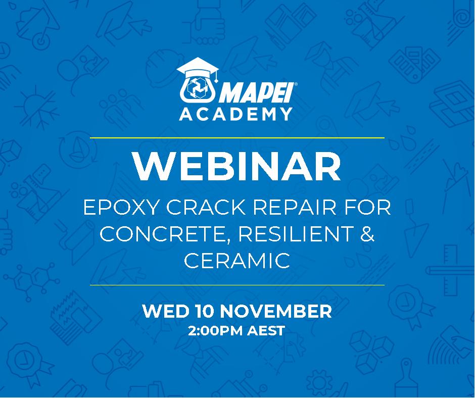 Webinar Facebook Post - Epoxy Crack Repair for Concrete, Ceramic, & Resilient 10.11.21