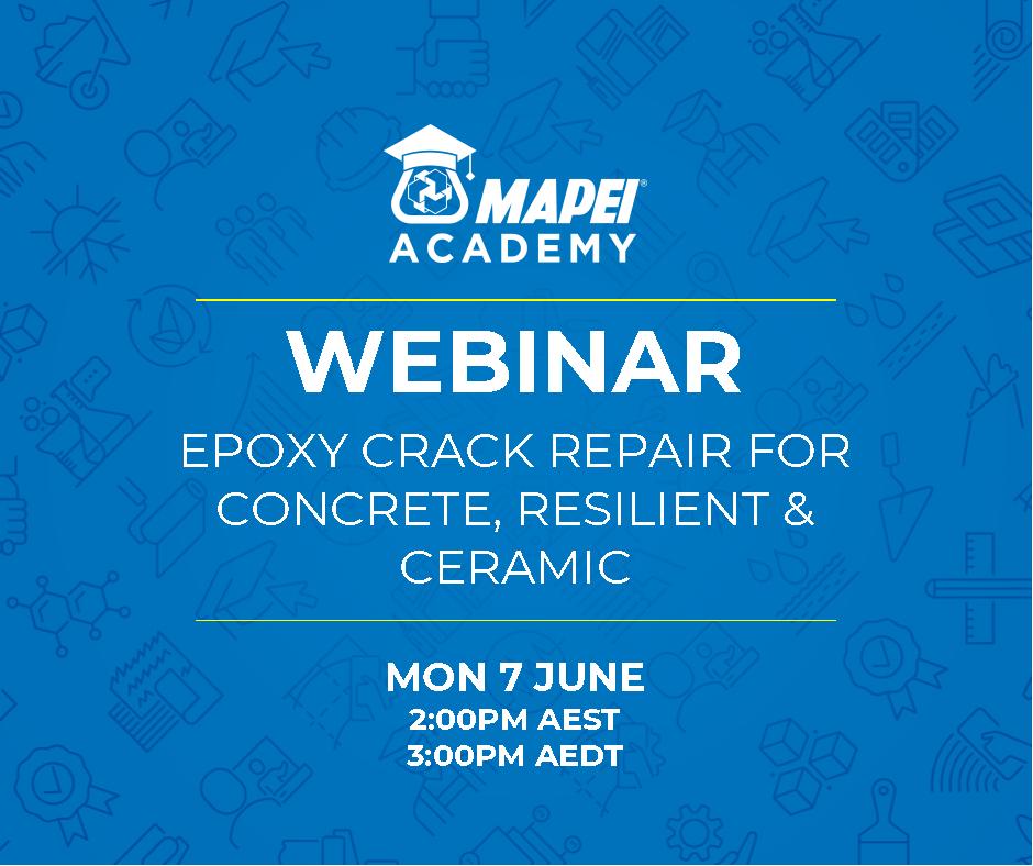 Webinar Facebook Post - Epoxy Crack Repair for Concrete, Ceramic, & Resilient 7.6.21