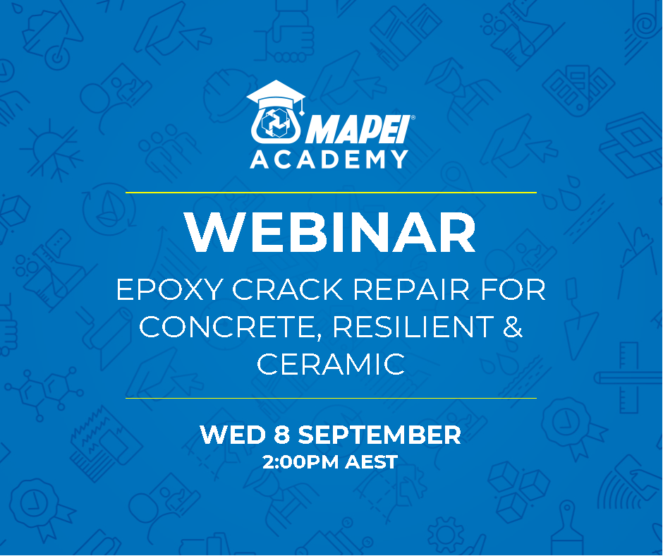 Webinar Facebook Post - Epoxy Crack Repair for Concrete, Ceramic, & Resilient 8.9.21