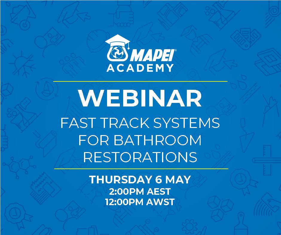 Webinar Facebook Post - Fast Track systems for bathrooms restorations 6.5.21
