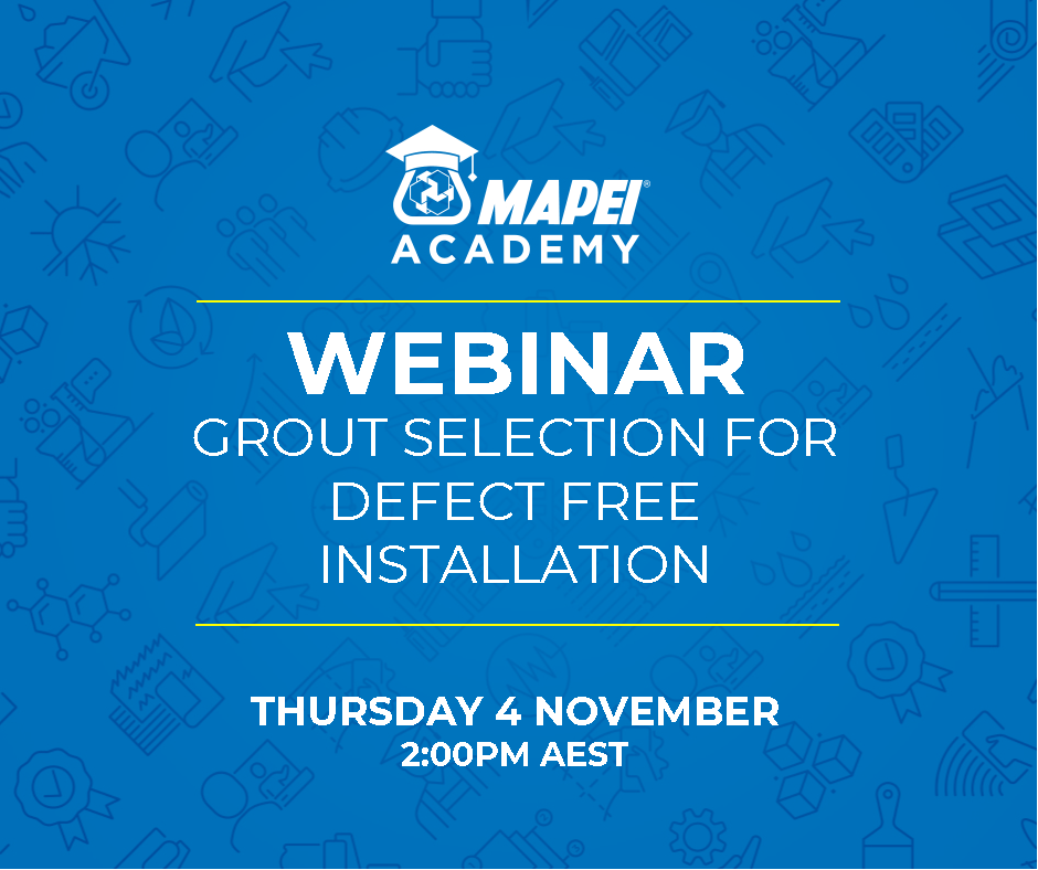 Webinar Facebook Post - Grout Selection for Defect Free Installation 4.11.21