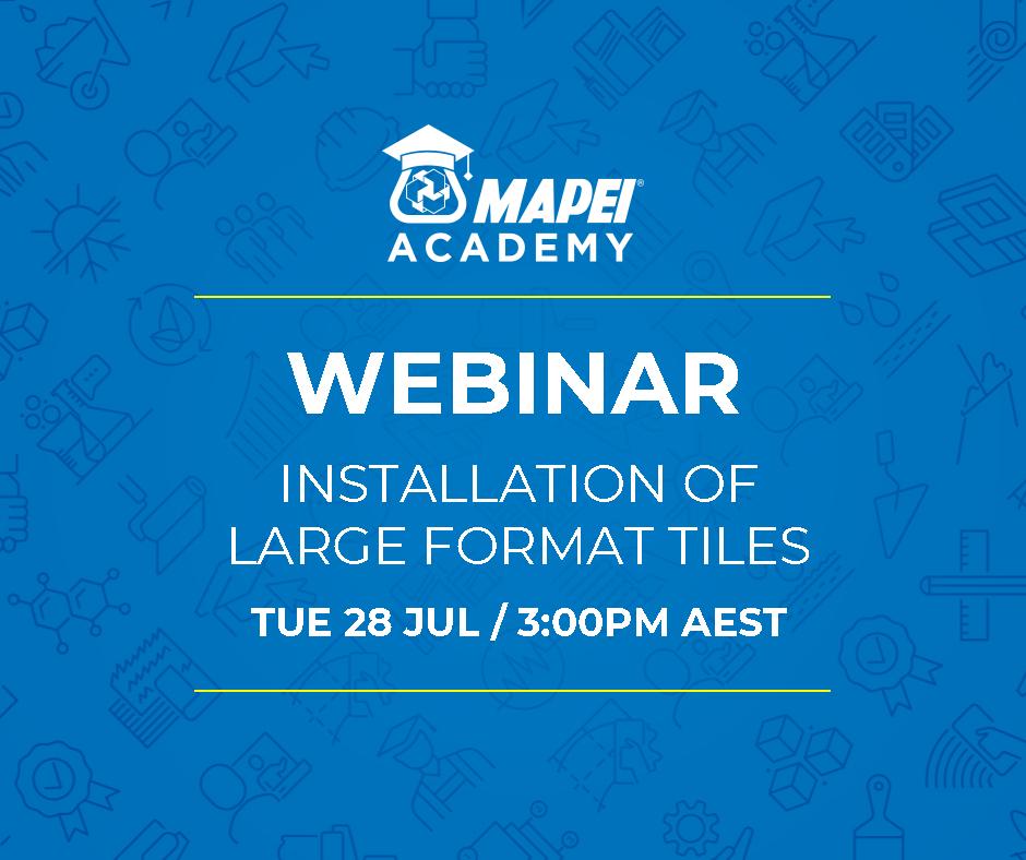 WEBINAR: Installation of Large Format Tiles