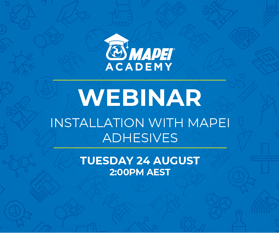 Webinar Facebook Post - Installation with Mapei Adhesives 24.8.21