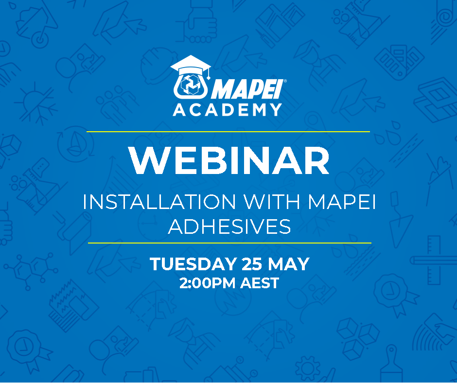 Webinar Facebook Post - Installation with Mapei Adhesives 25.5.21