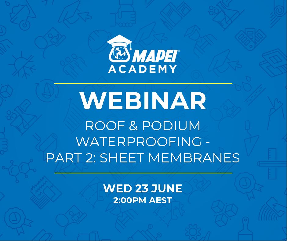 Webinar Facebook Post - Roof & Podium Waterproofing Part 2- sheet Membranes 23.6.21