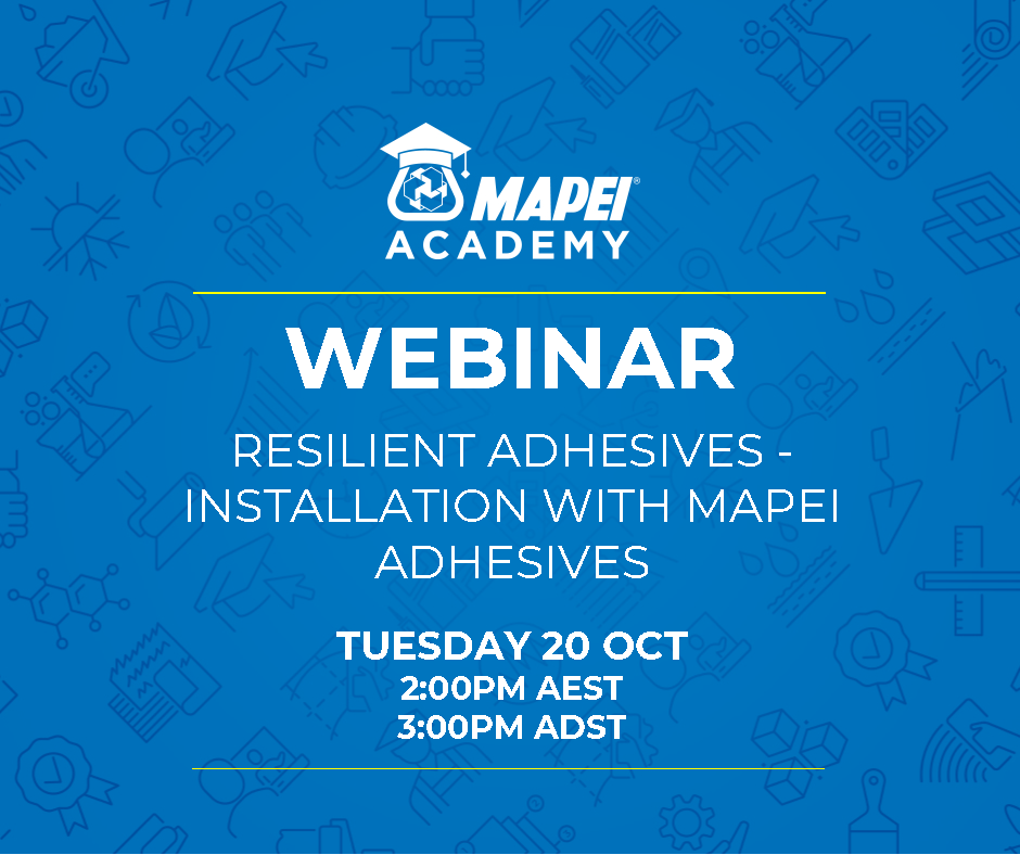 Webinar Facebook Post - V2 Resilient Adhesives - Installation with Mapei Adhesives 20.10.20