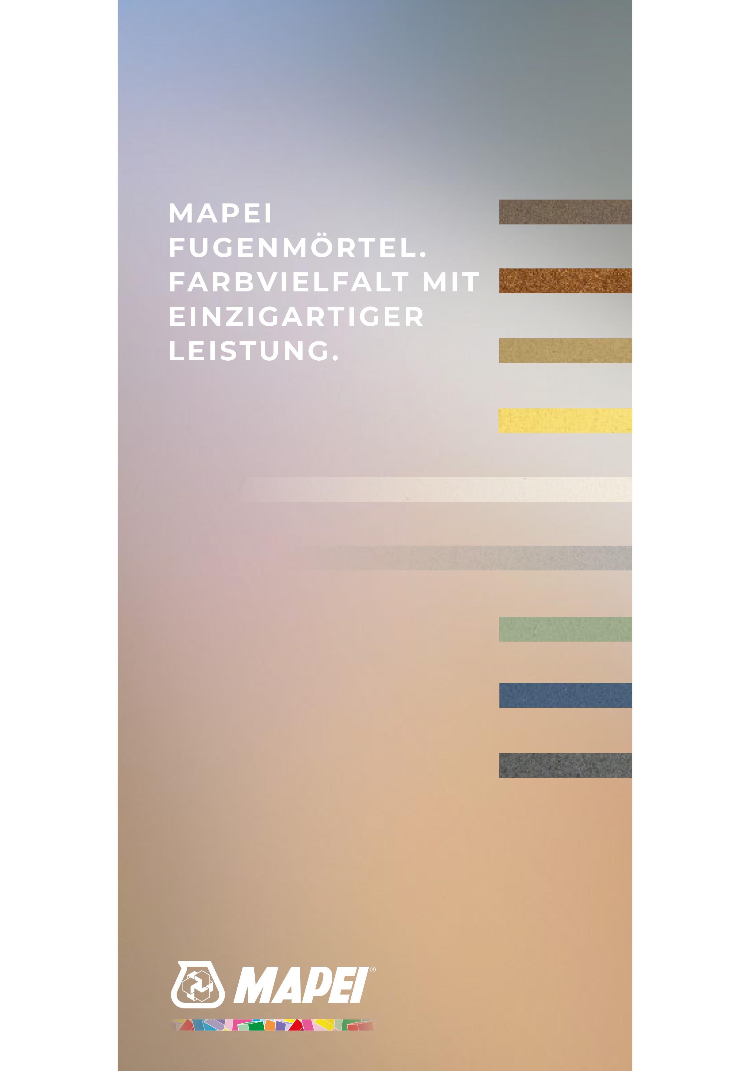 MAPEI Fugenmörtel Leaflet – Farbvielfalt mit einzigartiger Leistung