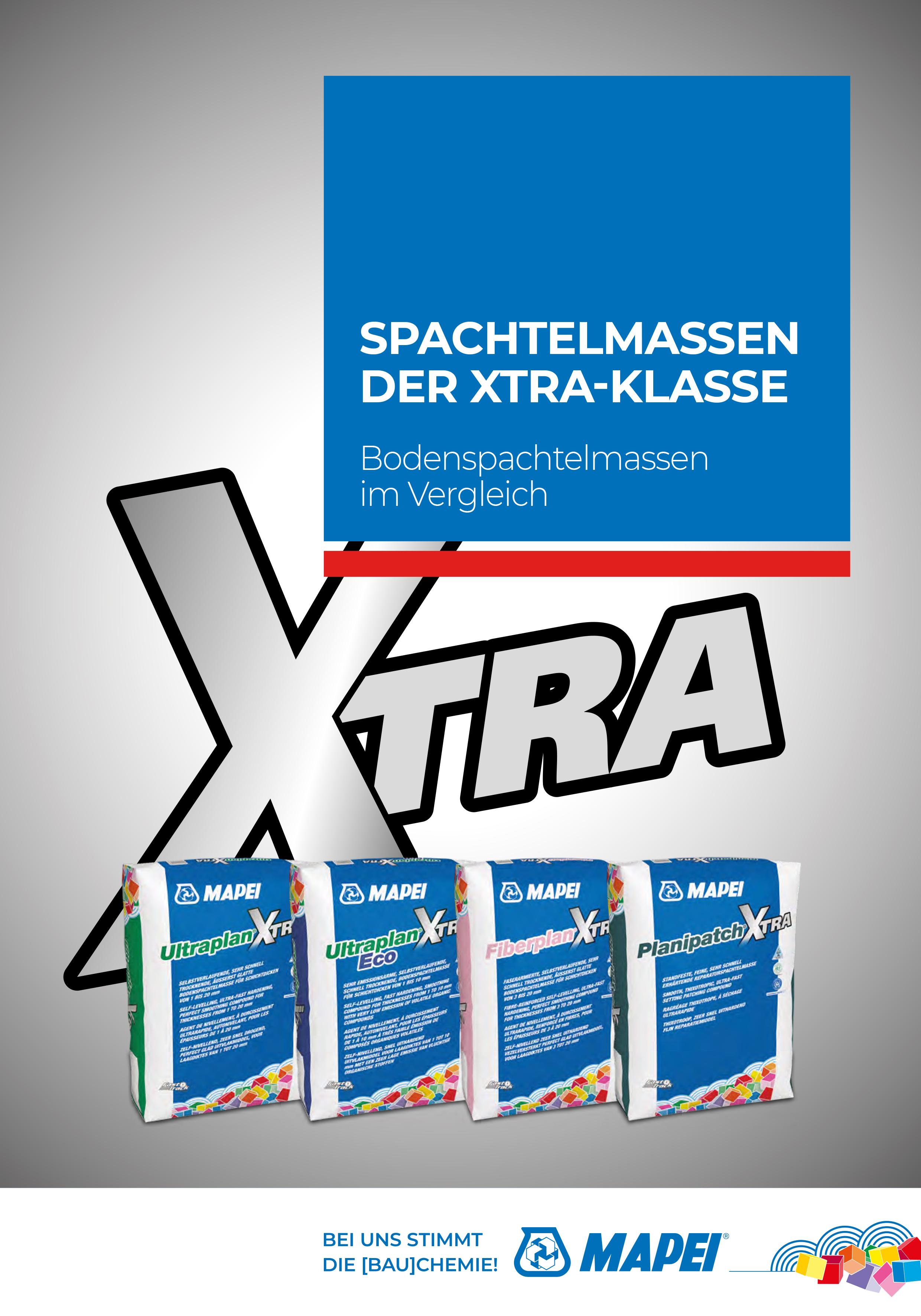 Spachtelmassen der XTRA-Klasse
