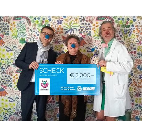 MAPEI Austria unterstützt die Arbeit der CliniClowns