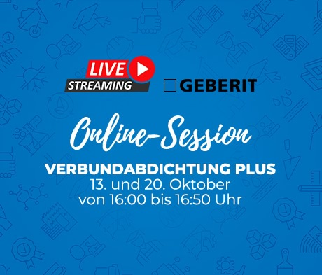 Verbundabdichtung Plus im Spotlight – GEBERIT Live-Stream
