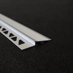 Zusatzprofil, Abschlussprofil, Alu silber, 8mm, Nr: 13408S2, Front; Fotocredit: Denise Frunza