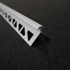 Zusatzprofil, Profil mit Doppelschenkel, Alu silber, 8mm, Nr: 1228S3, Front; Fotocredit: Denise Frunza
