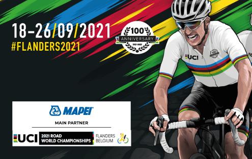 Mapei, partenaire principal de la 100e édition des championnats du monde UCI 2021 qui se dérouleront en Belgique
