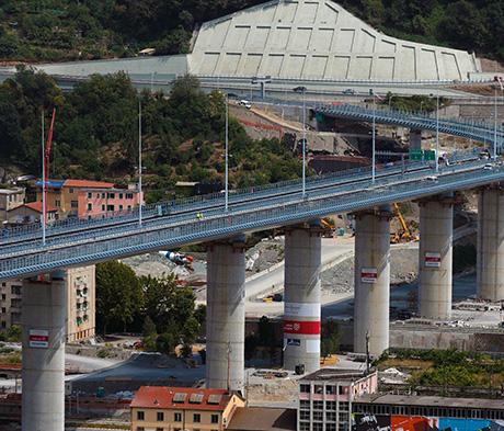 Adjuvants et support technique Mapei pour la construction du nouveau pont San Giorgio à Gênes
