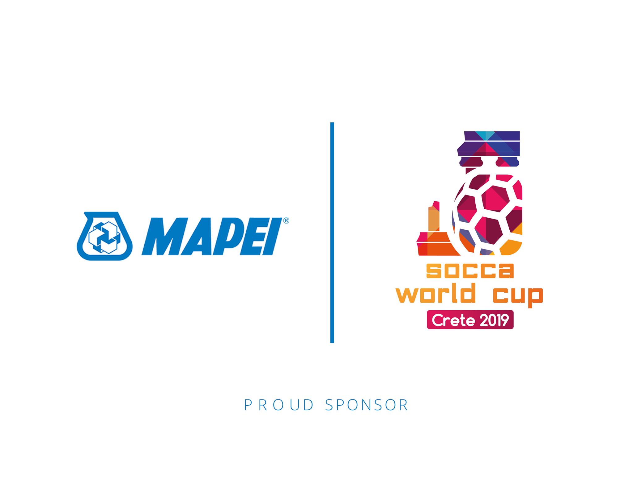 Η Mapei Hellas υπερήφανος χορηγός του Socca World Cup, Crete 2019!