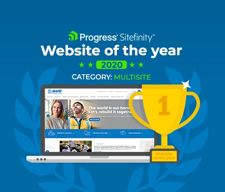 Mapei.com wins Progress Sitefinity's best website of the year award