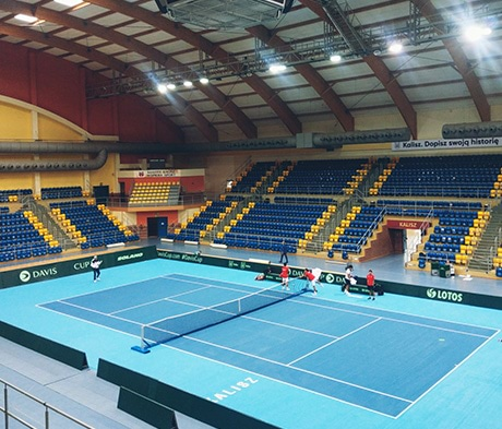 Mapecoat TNS Remove System for the 2020 Davis Cup play-offs between Poland and Hong Kong