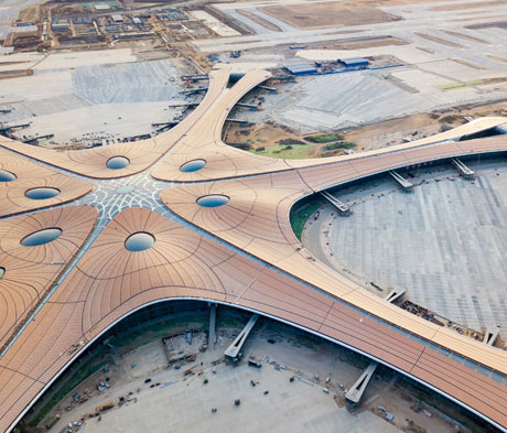 Mapei cementitious paving for the car park at Daxing International Airport