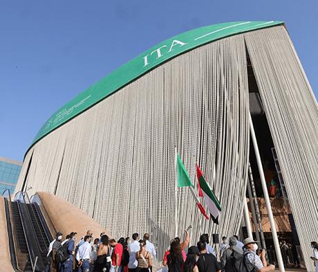 Caffè, polvere di bucce d'arancia e sabbia del deserto: l'innovazione sostenibile di Mapei per il Padiglione Italia a Expo 2020 Dubai