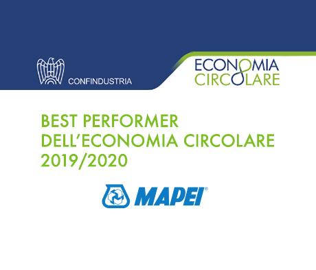 Mapei premiata come Best Performer dell'Economia Circolare 2019/2020