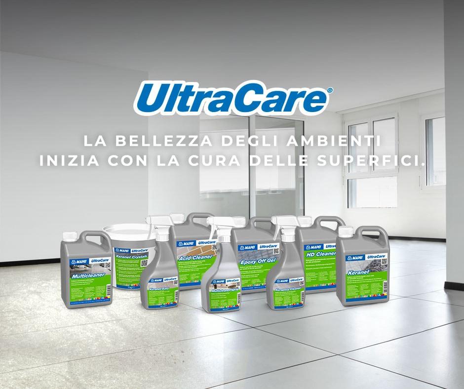 Nasce UltraCare: la nuova linea Mapei per la pulizia, la manutenzione e la protezione delle superfici