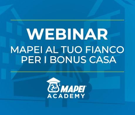 Mapei e i Bonus Casa: Webinar gratuito aperto al pubblico