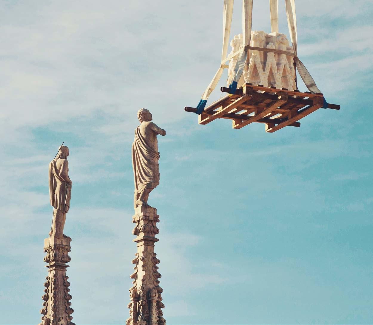 Cantieri del Duomo di Milano - salita marmo