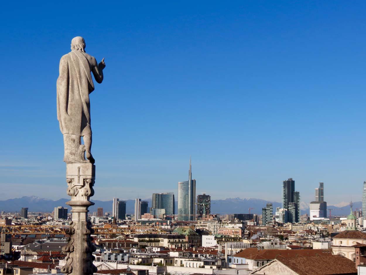 Panorama dalle Terrazze del Duomo di Milano