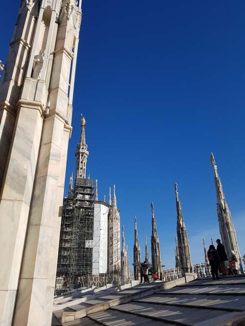 Terrazza centrale - Duomo di Milano