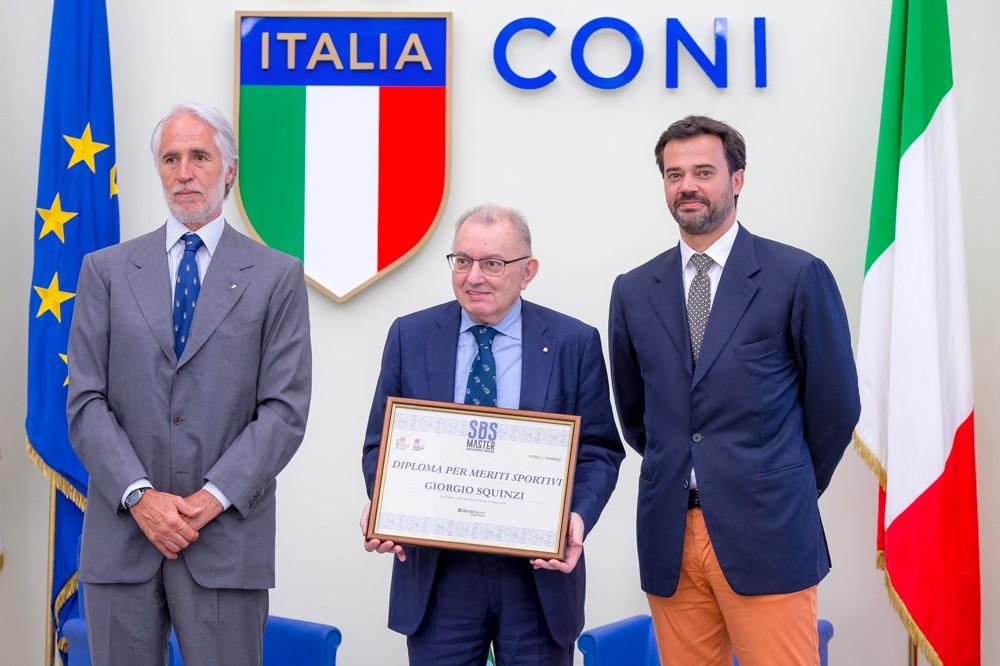 Consegna del Diploma a Giorgio Squinzi
