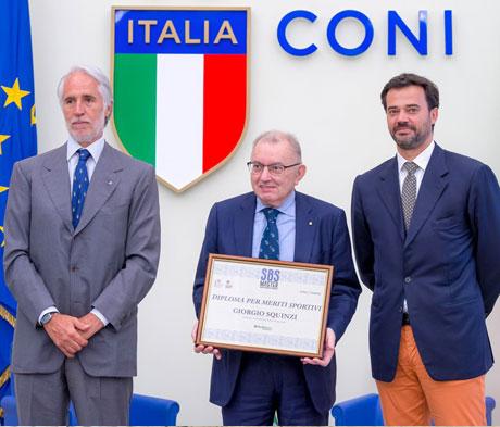 Giorgio Squinzi riceve il Diploma per Meriti Sportivi del Master SBS