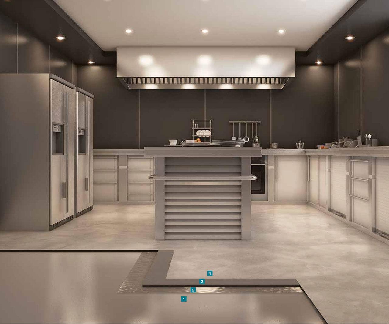 Realizzazione pavimentazioni in resina nelle cucine | Mapei